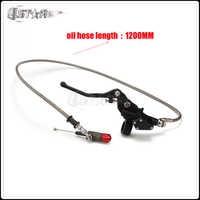 Frizione idraulica 1200 millimetri Argento Leva Cilindro Maestro Per 125-250cc Verticale Del Motore Del Motociclo Dirt Bike Motocross Trasporto libero