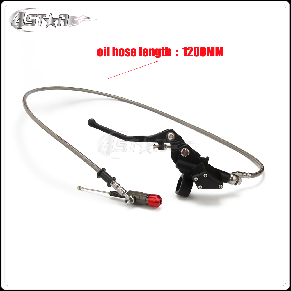 Hydraulic Clutch 1200mm Silver Lever Master Cylinder For 125-250cc Vertical Engine Motorcycle Dirt Bike Motocross Free Shipping