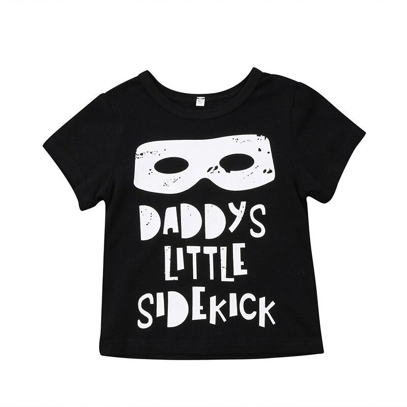 Children T-Shirt Short-Sleeve Toddler Baby-Boy-Girl Kids Cotton Newborn Letter 0-5Y Tops