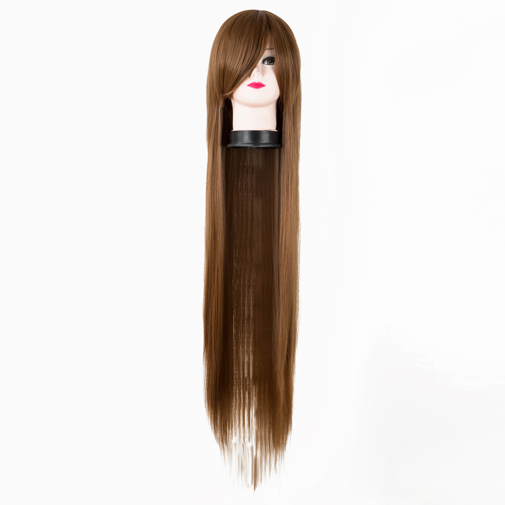 Generous Cosplay Wig Fei-show Synthetic Heat Resistant 100 Cm/40 Inches Long Straight Auburn Hair Halloween Carnival Costume Hairpiece With The Most Up-To-Date Equipment And Techniques Synthetic Wigs