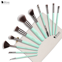 DUcare Hot Sell 11 Pcs Makeup Brush Set Tools Make Up Toiletry Kit Wool Brand Make