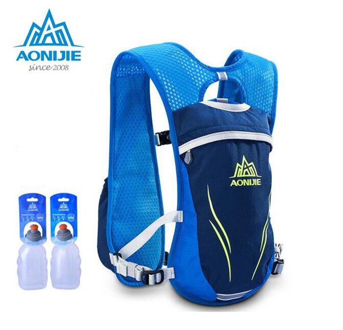 AONIJIE Men Women Trail Running Backpack Outdoor Sports Hiking Marathon Racing Hydration Water Bag With 2 Optional 250ml Bottles цена