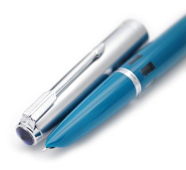 2019 새 버전 Wing Sung 601 스틸 캡 Vacumatic Double Bead 만년필 인기있는 잉크 펜