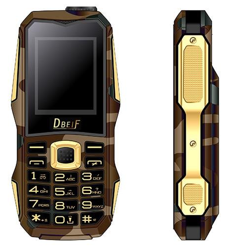 Dbeif F9 Ourdoor Daul Sim 1.7Flashlight FMRadio Bluetooth MP3 MP4 Mini Mobile Cell Phones Support Russian Keyboard