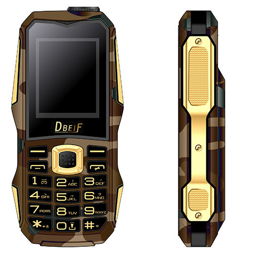 "Dbeif F9 Ourdoor Daul Sim 1.7""Flashlight FMRadio Bluetooth MP3 MP4 Mini Mobile Cell Phones Support Russian Keyboard"