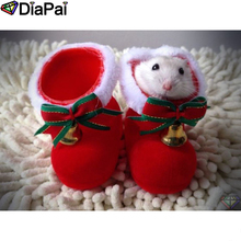 DIAPAI Diamond Painting 5D DIY 100% Full Square/Round Drill Shoes hamster Embroidery Cross Stitch 3D Decor A24649