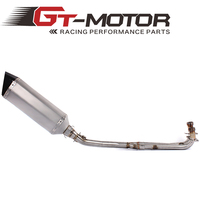 GT Motor Exhaust Full system FOR Yamaha T MAX Tmax 500 530 2008 2016 with Muffler
