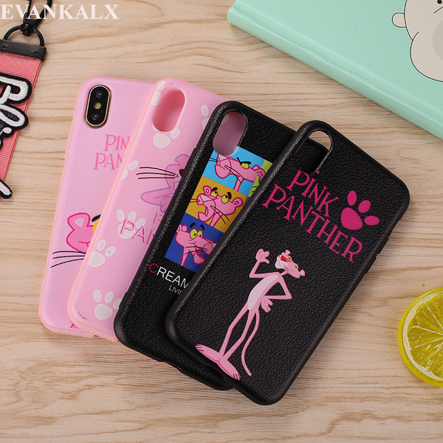 new arrival fd106 d5b8e US $2.5 |EVANKALX For iPhone X Case Fashion Lanyard Pink Panther Soft TPU  Silicone Case For iPhone 6 6s 8 X 6/7/8 Plus Cover-in Fitted Cases from ...