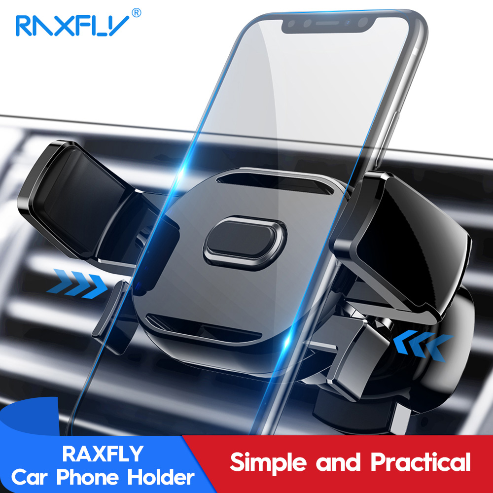 RAXFLY Phone Car Holder For iPhone XS Max XR XS X 8 7 6S 6 Plus 5S 5 Se 360 Degree Adjustable Air Vent Mount Phone Holder Car mobile phone car vent holder