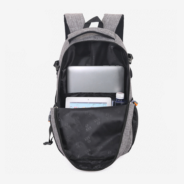 2020 New Fashion Men's Backpack Bag Male Polyester Laptop Backpack  5