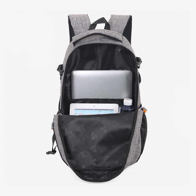 2019 חדש אופנה גברים של תרמיל תיק זכר פוליאסטר מחשב נייד תרמיל מחשב שקיות תלמיד סטודנטים תיק זכר