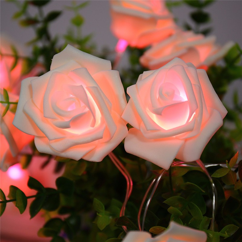 20 LED Novelty Rose Flower Fairy Strin (6)