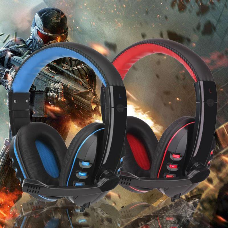 Amzdeal Neue Professionelle USB 3.5mm Verdrahtet Stirnband Stereo Gaming Kopfhörer Kopfhörer W/MIC Für PC Gamer Spiel Kopfhörer Hohe qualität