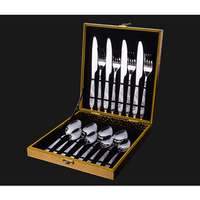 NHM Western dinner tableware 4 pieces stainless steel western style food knife fork gift set