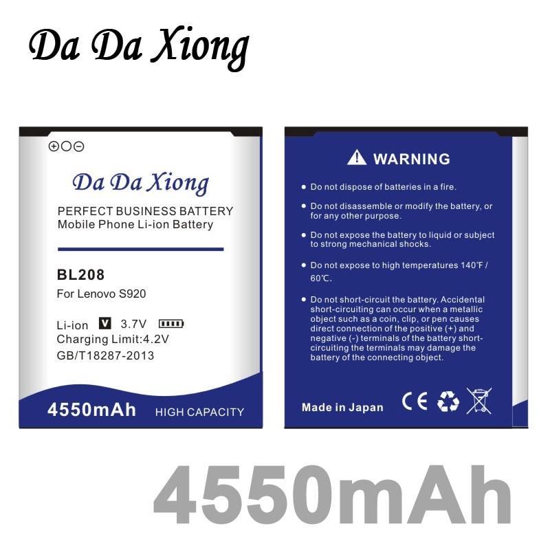 imágenes para Da da xiong 4550 mah batería para lenovo s920 bl208 bl-208
