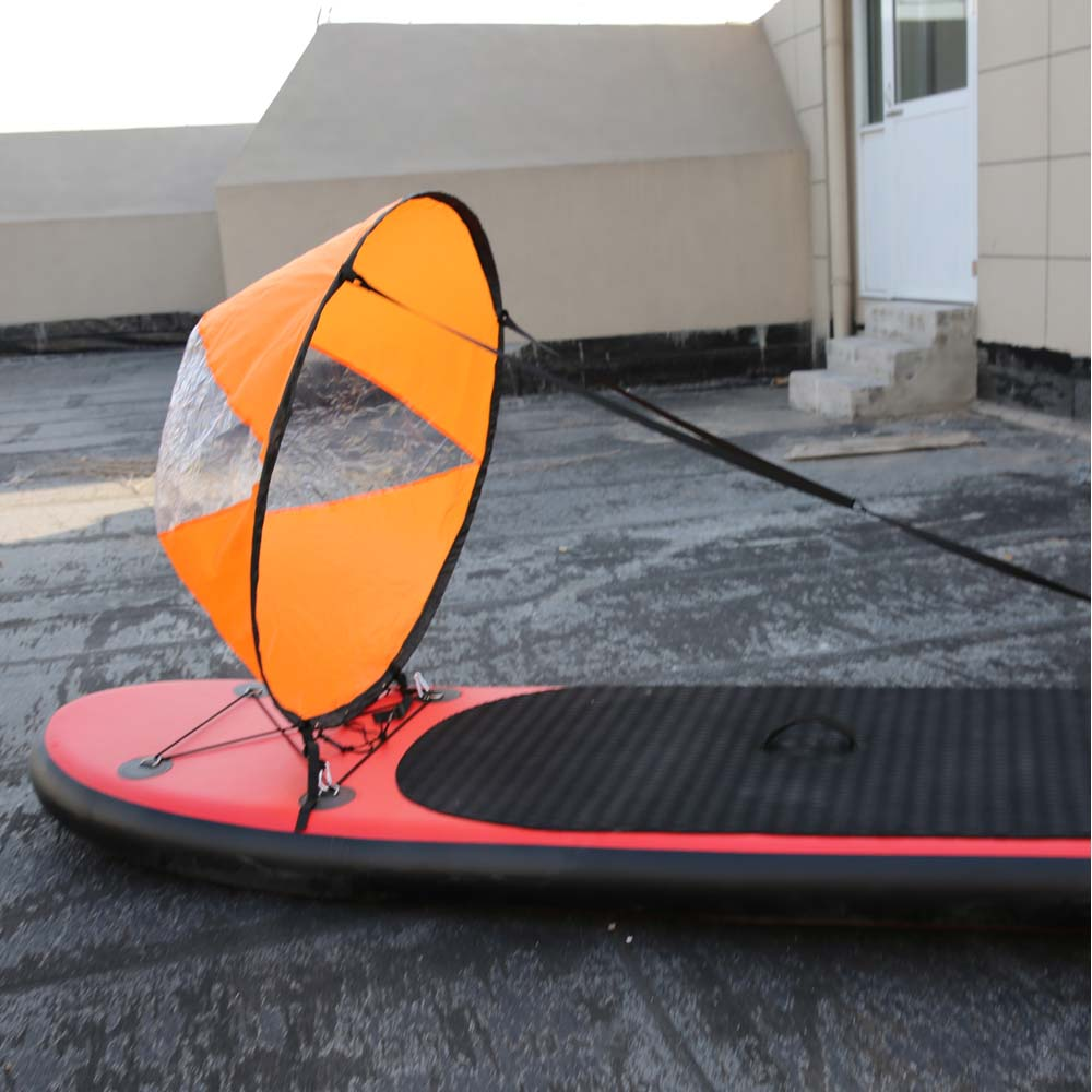 Foldable Kayak Boat Wind Sail Sup Paddle Board Boats With Clear Window Extended Diameter 108cm