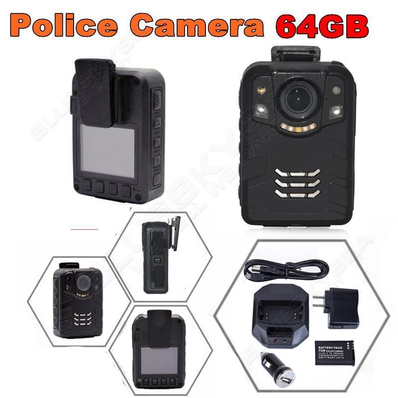 Free shipping!64GB Ambarella A7L50 Super HD 1296P 2K Police Worn Camera 170 Hours 60fps IR free shipping ambarella a2 1080p 30fps hd police camera police body worn camera action body police camera