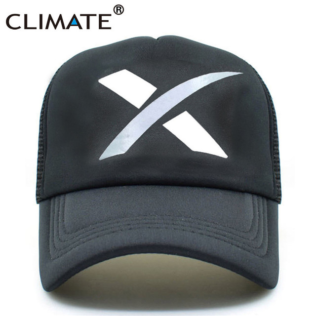 CLIMATE X Galaxy Trucker cap Men Cool X Space Hat Caps Outer Space Rocket Musk Fans Baseball Mesh Net Trucker Caps Hat Men Women