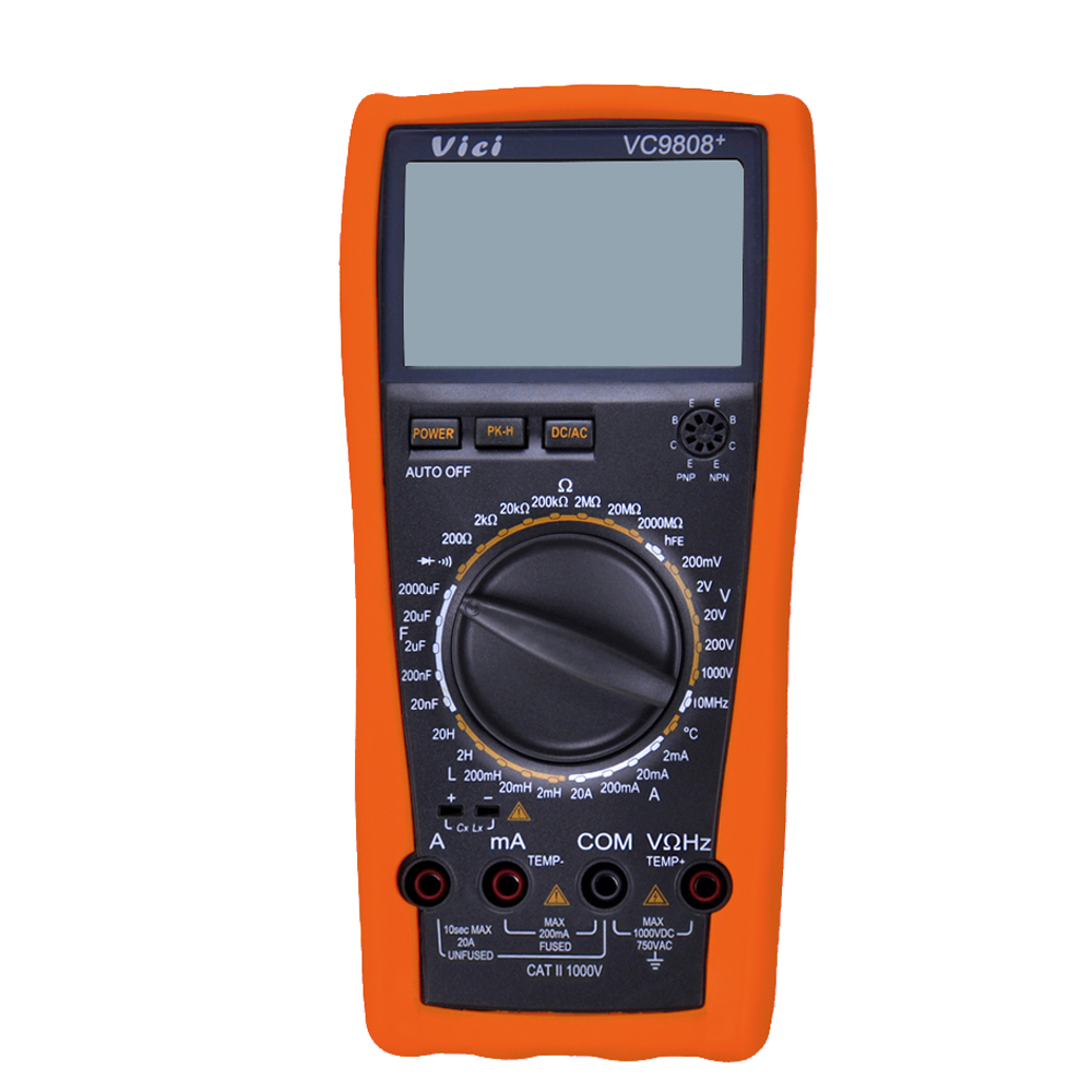 VICI VC9808+ 3 1/2 Digital Multimeter DMM LCR Meter Electrical Meter Inductance Frequency Temperature Tester DCV ACV DCA/R/C/L/F my68 handheld auto range digital multimeter dmm w capacitance frequency