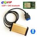 Calidad 2015. R1 versión new gold cdp TCS CDP OKI (Viruta de M6636B OKI) + bluetooth con la viruta de OKI para los coches camiones CDP Pro ESCÁNER