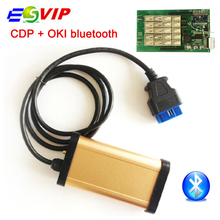 Quality  2015.R1 version new gold cdp TCS CDP OKI (M6636B OKI Chip)+bluetooth with OKI chip for cars trucks CDP Pro SCANNER