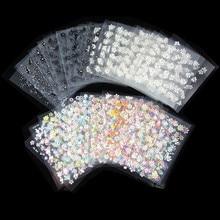 Preço barato 50 Pçs/lote NO.71(C10 C20 R1) Melhor Venda de produtos Da Arte Do Prego projetos Translúcidas flores 3D autoadesivo etiqueta Do Prego
