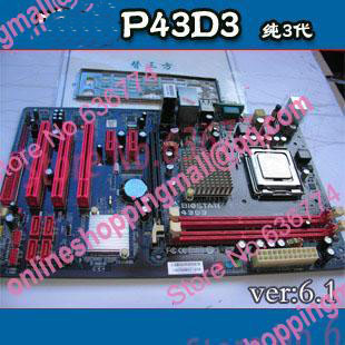 P43d3 ddr3 font b 775 b font needle pure three generations motherboard