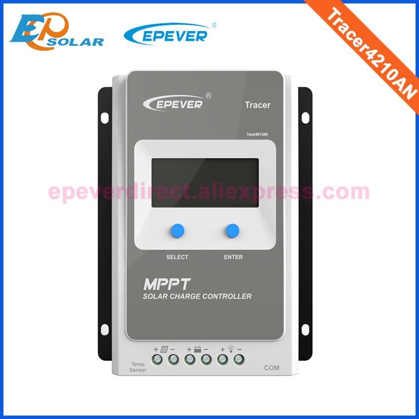 12 volts 40amp display lcd controlador de rastreamento Novo MPPT EPsolar mppt solar série Tracer4210AN 40A 40 ampères 12 V/ 24 V