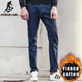 Campamento de pioneros Gruesa ropa de invierno de los hombres pantalones vaqueros de la marca de calidad superior masculino de lana pantalones de moda los pantalones vaqueros ocasionales de los hombres pantalones de mezclilla 611041