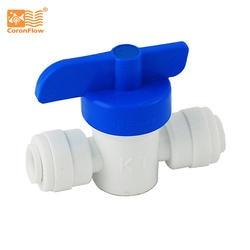"Coronwater запорный клапан прямой шаровой клапан 1/4 ""Push-in 1/4"" Push ro фитинги KY-02"