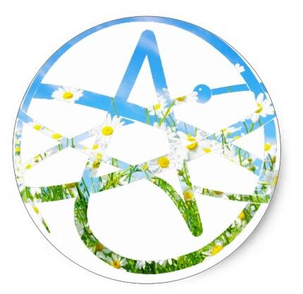15inch Earth Day Atheist Symbol Classic Round Sticker In Stationery