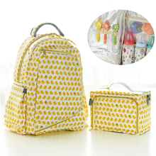 hot deal buy 2pcs/set nappy backpack bag mummy large capacity bag mom baby multi-function waterproof outdoor travel diaper bags for baby care