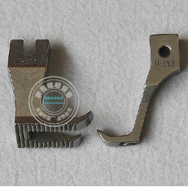 DY szinkron autónyomó láb Sűrű bőr nyomótalp Nem nyomvonal nélküli fogak lapos alsó nyomófej U192 U193