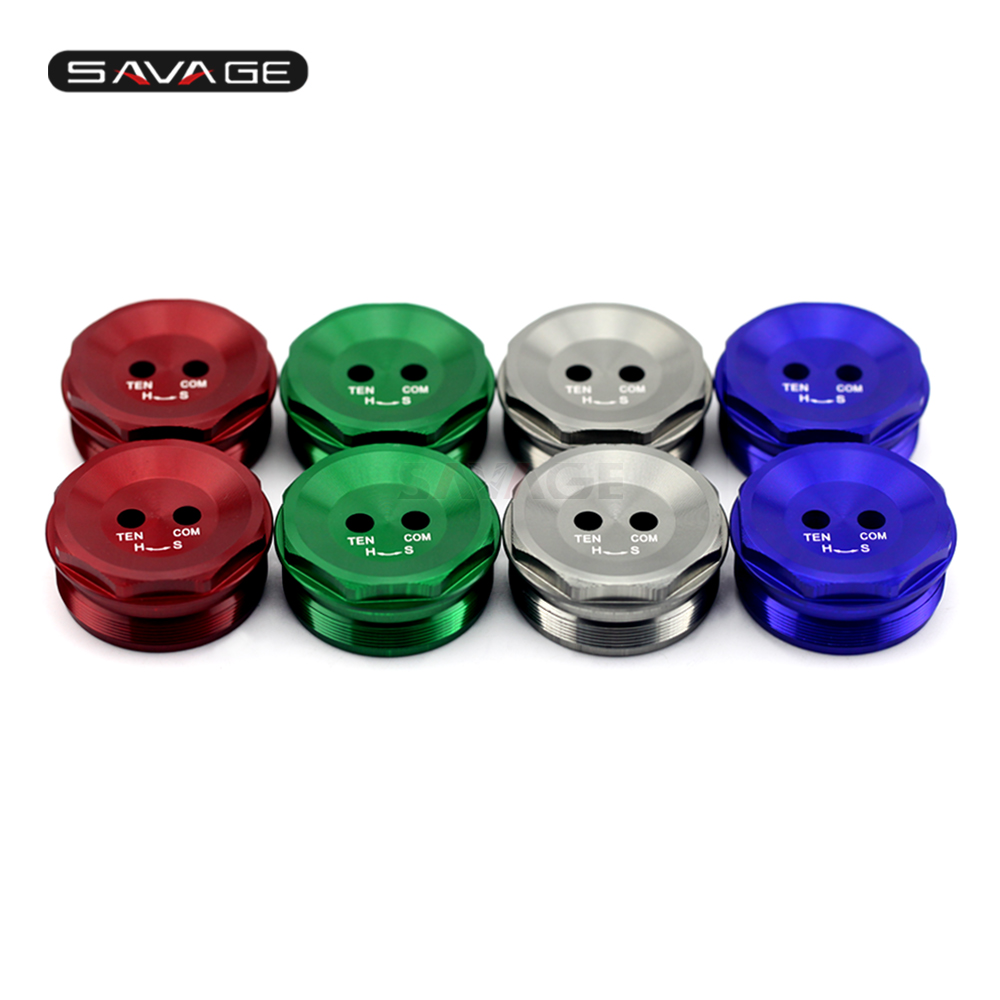 цена на Front Fork Bolts Cover Decorative Cap For KAWASAKI ZX10R ZX-10R NINJA 2011 2012 2013 2014 Motorcycle Accessories CNC Aluminum