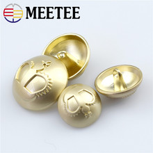 10pcs Meetee 18/20/23/25mm Metal Buttons Golden Crown Decor for Sewing Coat Sweater Clothes Button DIY Scrapbook Craft Supply