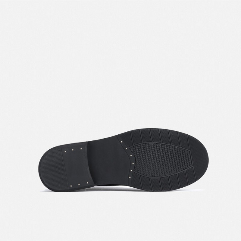 Рабочие ботинки из натуральной кожи в стиле ретро; мужские зимние кроссовки на шнуровке; роскошные кроссовки в британском стиле с высоким берцем; ботинки для верховой езды; повседневная обувь - 6
