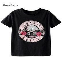 Camiseta negra feliz bonita pistola de mujeres N estampado de rosas camiseta vintage rock algodón camiseta manga corta streetwear tumblr top S-2XL