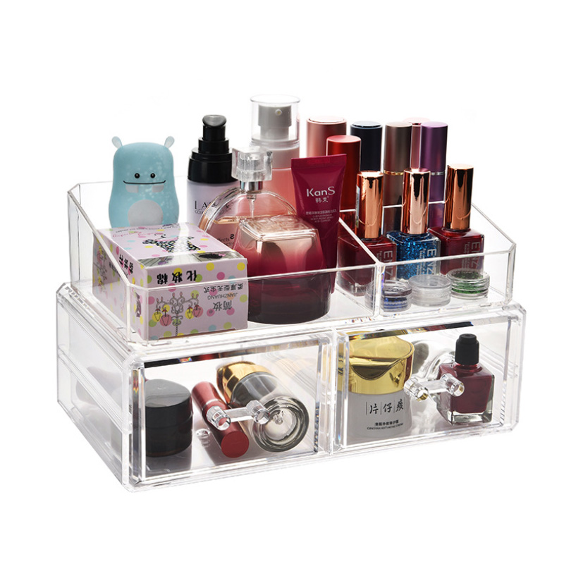 Acrylic Drawers Jewelry Storage Box Makeup Organizer Lipstick Holder Nail Polish Rack Desk Table Organizer Clear Large Cosmetic Storage Boxes Bins Aliexpress