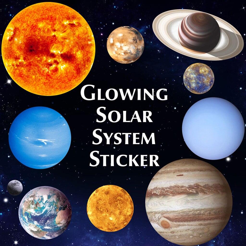 Wall-Stickers Planets Bedroom Glow-In-Dark-Ten Luminous PVC