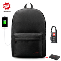 2017 Summer Tigernu USB Charging School Backpack Youth Backpack For Women Male Laptop Bagpack School Bag