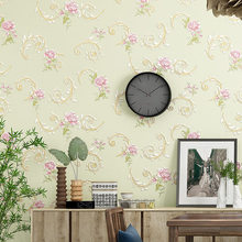 3D Wallpaper Warm Garden Small Flower Non-woven Wallpapers Bedroom Living Room TV Sofa Background Wall цена 2017