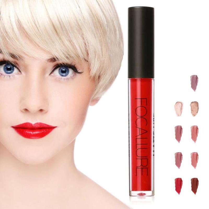 Focallure 3 Pcs Set Lip Gloss Easy To Wear Matte Liquid Lipstick Sexy Colors Lip Pigment