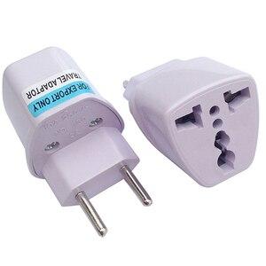 White 10A 250V Brazil power adapter plug Italy Switzerland Russia France German EU travel universal plug socket us uk converter