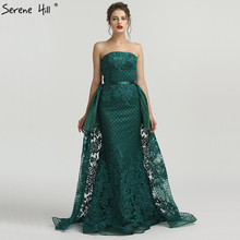 SERENE HILL Green Off Shoulder Mermaid Evening Dresses 2019