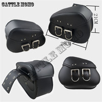 New Mini Black/Brown Durable Motorbike PU Leather Motorcycle Saddlebags Saddle Bags Pouch Fit for Mini Moto