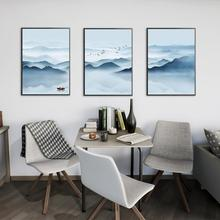 3Pcs/Lot Nordic Mountain and Lake Landscape Painting No Frame Canvas Posters Prints Wall Picture for Living Room Decoration