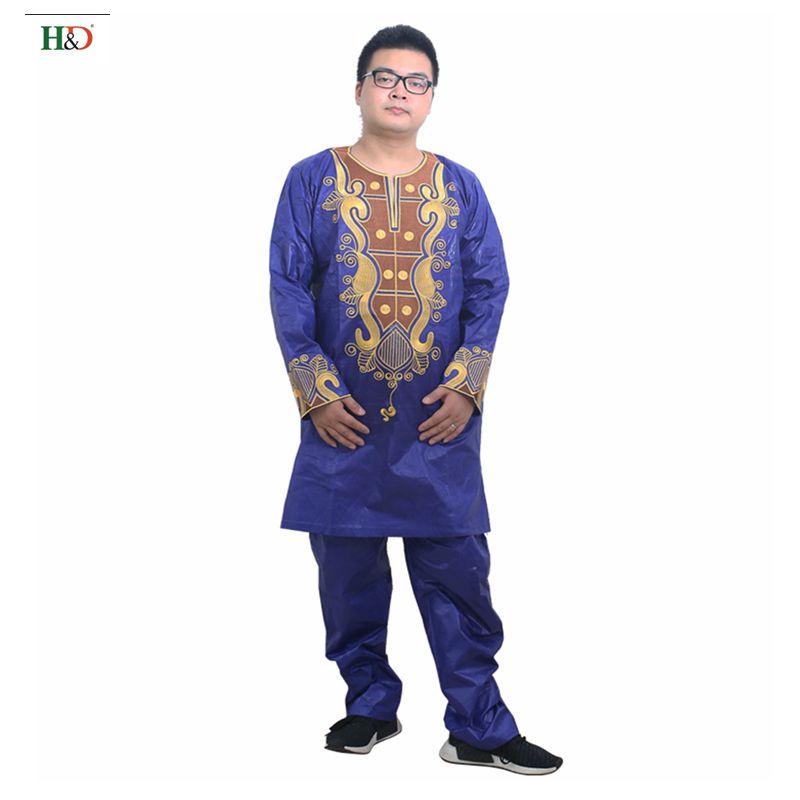 Pakaian Afrika untuk pakaian lelaki 2019 pakaian tradisional lelaki - Pakaian kebangsaan - Foto 3