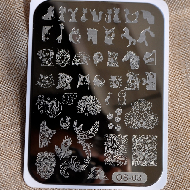 Animal Designs Nail Disk Nail Art Image Plate Stamping Template