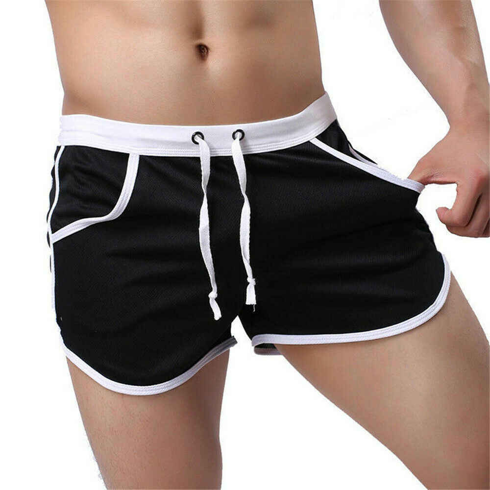 Hot Men Board Shorts Summer Beach Casual Loose Elastic Waist Sexy Comfort Athletic Gym Sports Training Swimwear Short Pants