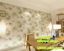 beibehang papel de parede wallpaper High quality fashion PVC beautiful creative eye care lotus living room bedroom TV wall paper